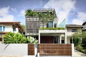 新加坡绿林别墅 / HYLA Architects