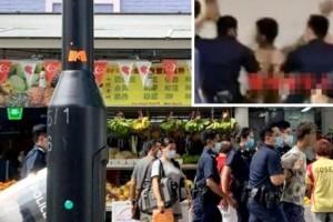 新加坡纹身男持械闹商场!惊动10名反恐警察持盾逮捕