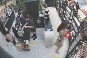 妇女疑佯装顾客 1分钟内偷5护肤品