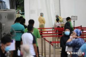 新加坡大面积社区检测,小贩,送餐员,的士,养老院和学前教育者等,统统要检测