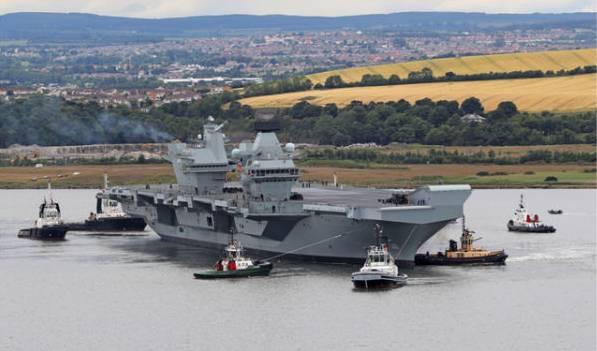 """英最大航母""""伊丽莎白女王""""号将首次在印度、日本、韩国和新加坡入港"""