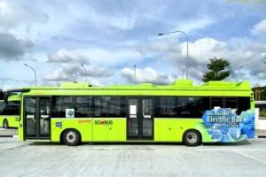 新加坡3门电动巴士来了,8月25日起将推出20 辆