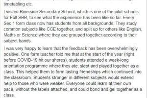 中学分班实施改革,新加坡小六会考还会像以前那样残酷吗