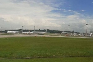 秋分时节,网友从新加坡回江苏的飞行体验