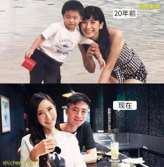 新加坡最壕名媛46岁,不老容颜魔鬼身材,跟家人合照看似姐姐