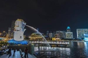 观赏新加坡夜景的绝佳地,夜色中的克拉码头