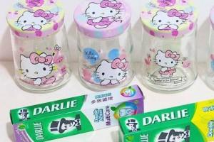买Darlie牙膏就送超萌Hello Kitty零食罐!买S$12.6的牙膏送价值20新币的罐子!!一共4款快来收集
