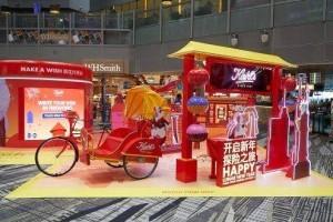 """节日氛围浓厚 新加坡樟宜机场设""""新年快闪店""""喜迎庚子鼠年"""