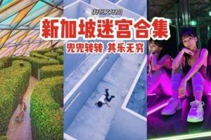好玩又好拍📷新加坡5大迷宫⚡树木、镜子组成,兜兜转转其乐无穷,烧脑到爆炸💥