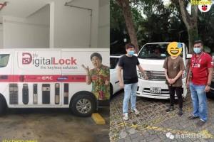 电子锁公司货车失窃悬红2000新元很快寻回 网民以为是另类宣传手法