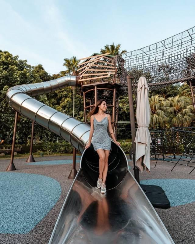 Nestopia 海滩乐园🎠 圣淘沙大型户外游乐场!巨型长滑梯、空中攀爬探险宝地