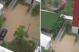 大雨来袭 狮城多区又淹水