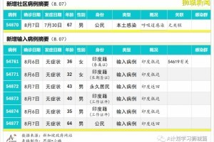 8月8日,新加坡疫情:新增132起,其中社区1起,输入6起;新增出院281起