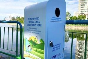 安全丢弃鱼钩保护水獭!当局在本地蓄水池设丢弃箱