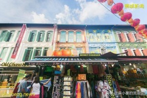 新加坡唐人街原来叫牛车水,市区最热闹的地方,聚集各种中国美食