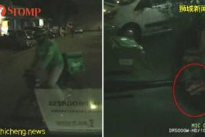 偷灵车上现金卡 送餐员行径被拍下
